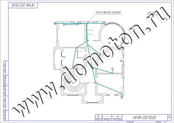 Прокладка проводов по этажам 14-09-2016(2) watermark